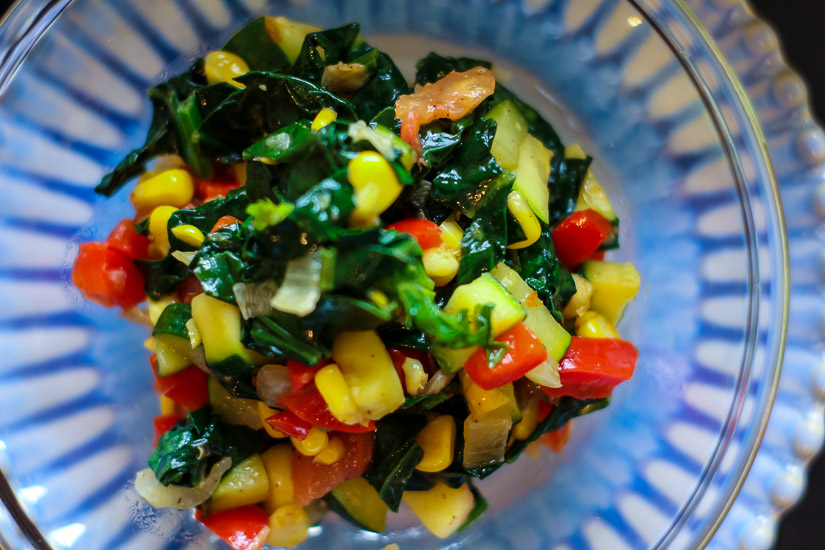 Stir Fry Spinach with Vegetable Medley