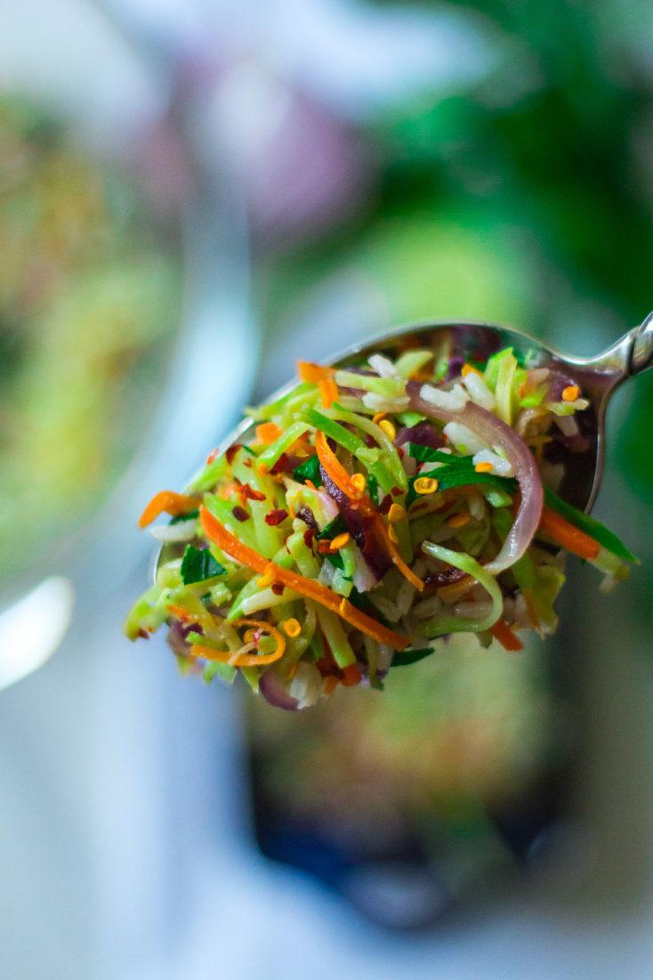 Spoonful Broccoli Slaw Rice